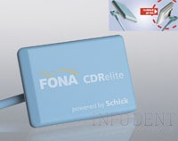 Радиовизиограф FONA CDRelite (FONA Dental s.r.o. - Sirona Dental Systems Foshan Co., Ltd.), интраоральный сенсор by Shick, съёмный кабель датчика визиографа